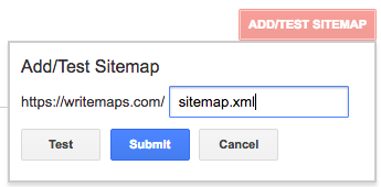 submit sitemap to google - step 2