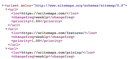 how to create a sitemap xml example