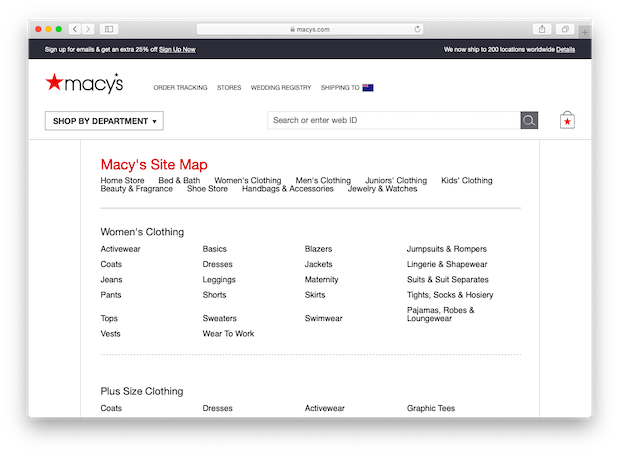 how to create a sitemap - html sitemap example