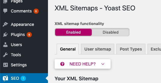 sitemap enabled